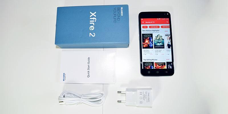 BluBoo Xfire 2 box contents