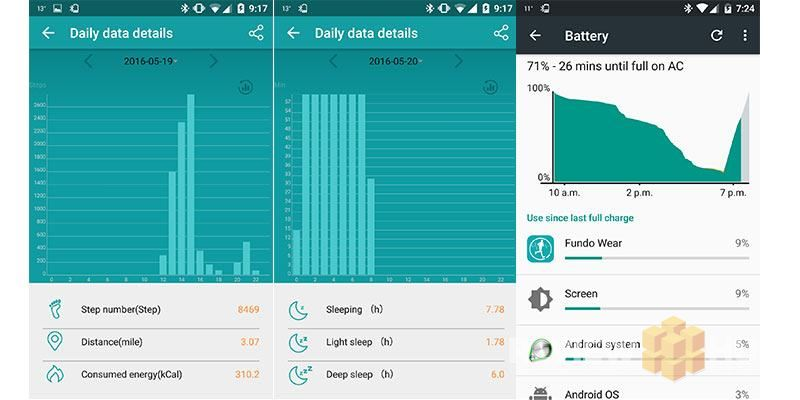 Fundo-Wear-smartwatch-app-battery-usage