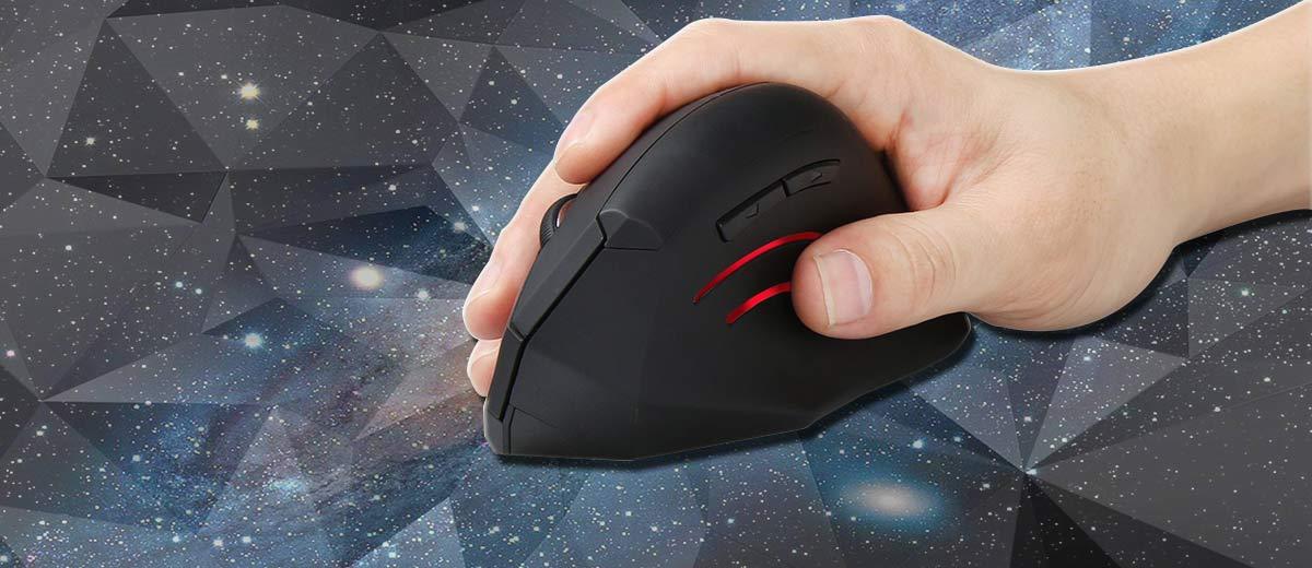 TeckNet Vertical Ergonomic Wireless Mouse Black