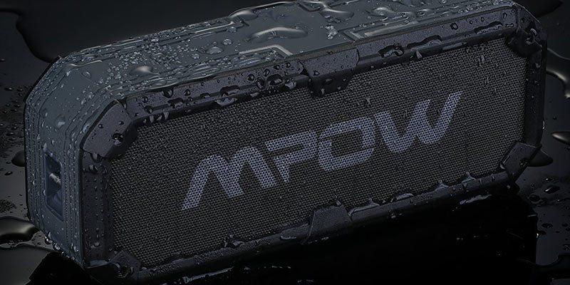 MPOW Armour Plus speaker in rain