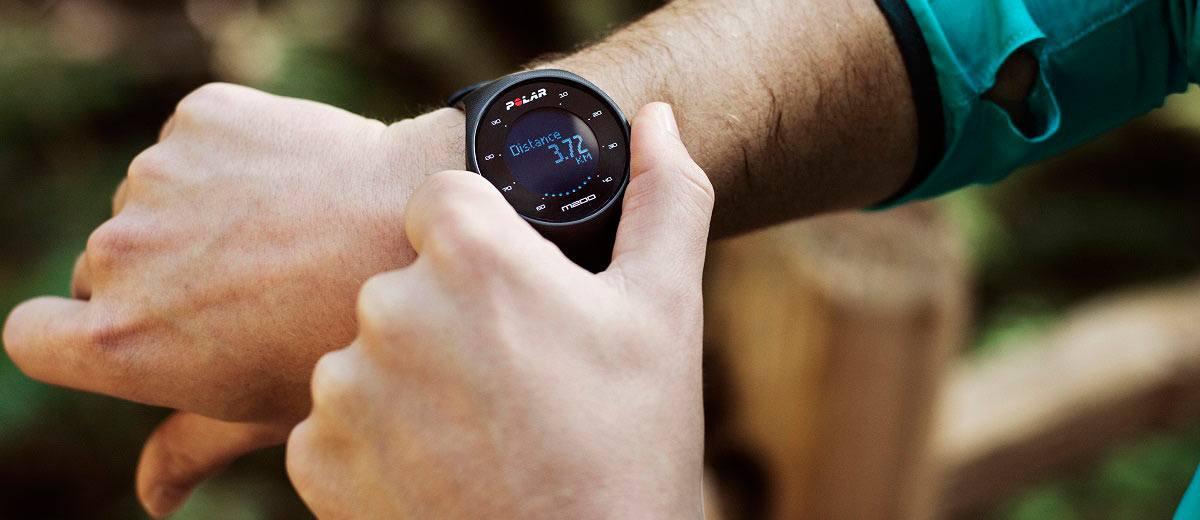 Polar M200 Sports Tracking Watch Distance