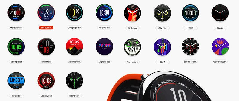 amazfit pace watch faces