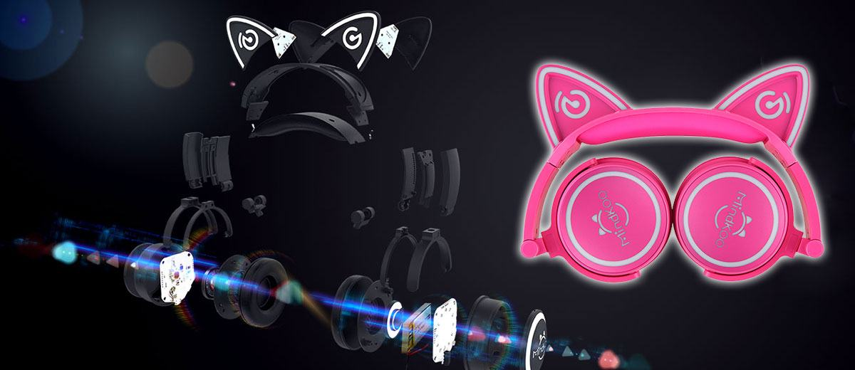 MindKoo Cat Ears Unicat Headphones