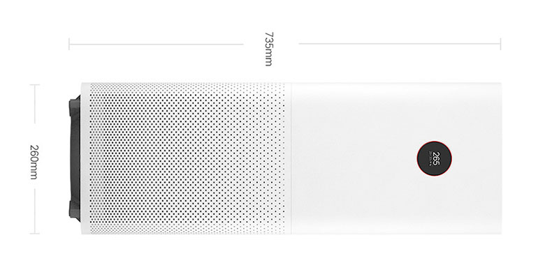 Xiaomi Home Air Purifier Pro Dimensions