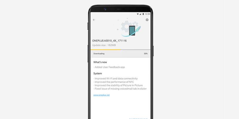 OnePlus 5T Oreo Update