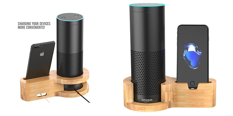 Amazon Echo Bamboo Dock