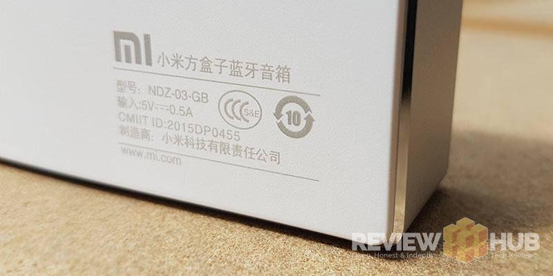 Xiaomi Mi Square Box Specs