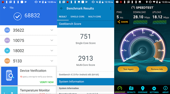 Leagoo T5C benchmarks Results Antutu Geekbench