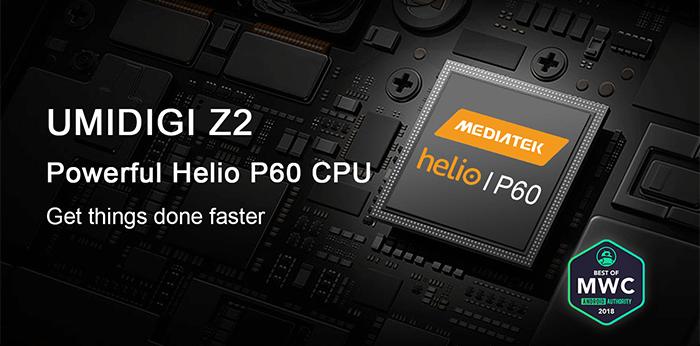 UMiDigi Z2 Helio P60 CPU