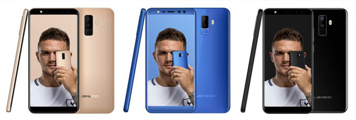 Leagoo M9 Black, Gold and Blue