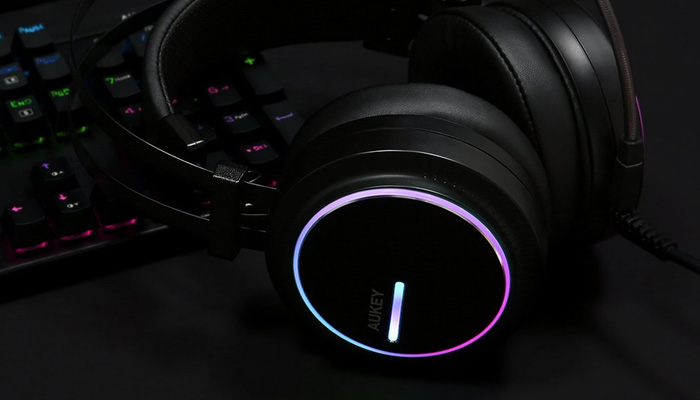 Aukey GH-S5 Gaming Headset RGB Lights