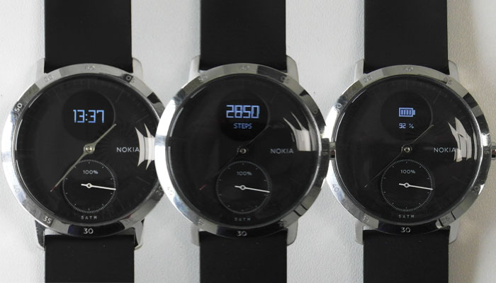 Nokia Steel HR Display Examples