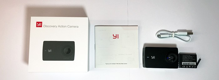 Yi Discovery 4K Action Cam whats in the box