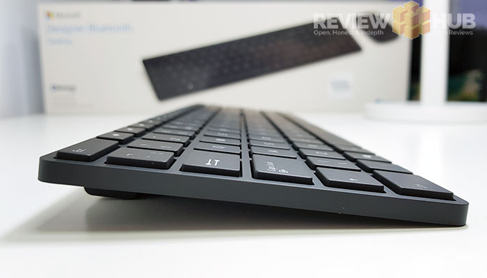 Microsoft Designer Bluetooth Keyboard Key Travel