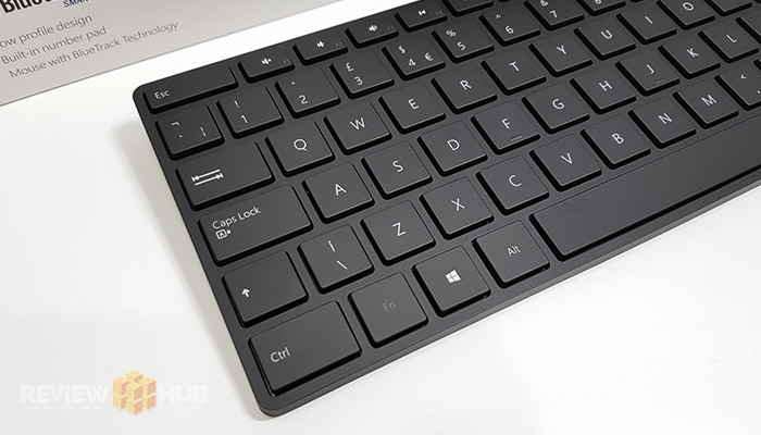 Microsoft Designer Bluetooth Keyboard layout