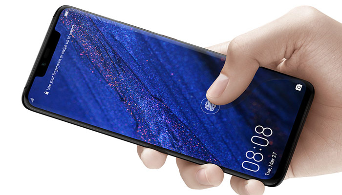Huawei Mate 20 in-display fingerprint reader