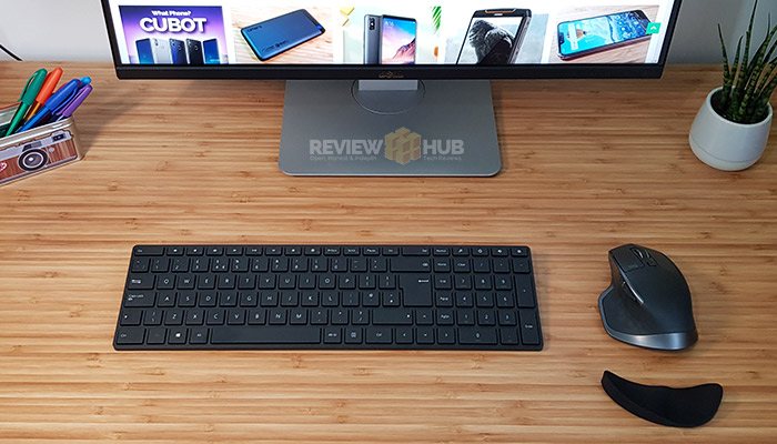 Microsoft Designer Bluetooth Keyboard on desk