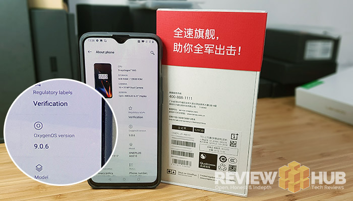 How to convert the OnePlus 6T Hydrogen to OnePlus 6T Oxygen